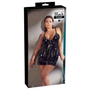 Lack-Kleid mit Schößchen